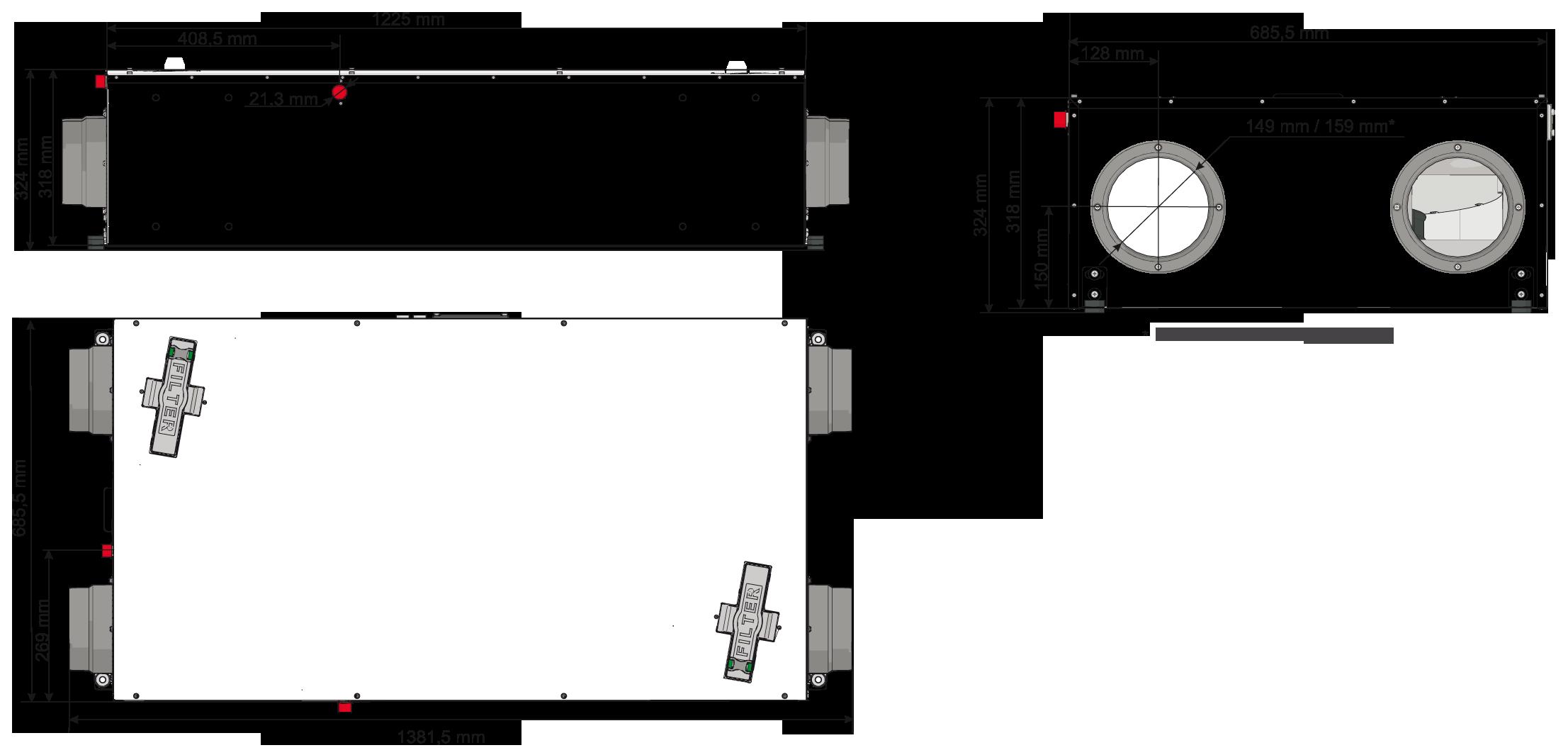 centrala wentylacyjna salda smarty 3x p wymiary
