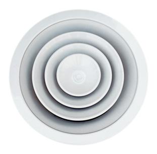 anemostaty sufitowe okrągłe z przepustnicą