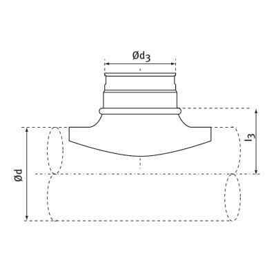 trójniki siodłowe 90st 2