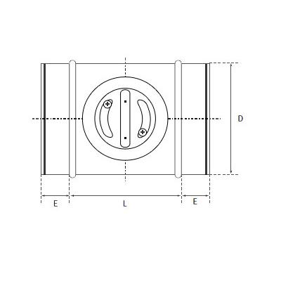 przepustnice jednopłaszczyznowe odcinające szczelne do kanałów okrągłych 2