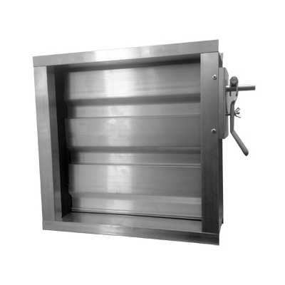 przepustnice wielopłaszczyznowe aluminiowe do kanałów prostokątnych