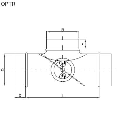 trójnik z przepustnicą do kanałów okrągłych 2