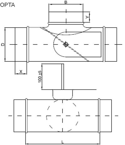 trójnik z przepustnicą do kanałów okrągłych 3