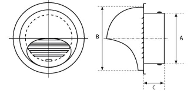 okrągłe czerpnie/wyrzutnie ścienne 4