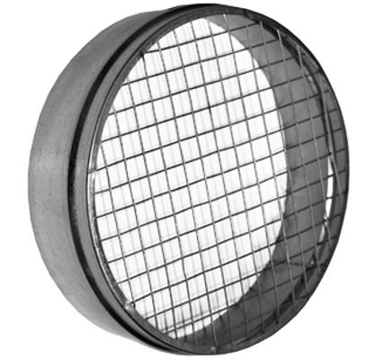 okrągłe króćce z siatką