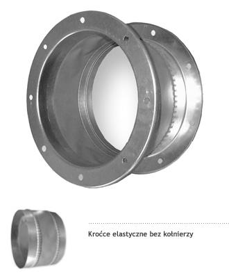 okrągłe króćce elastyczne