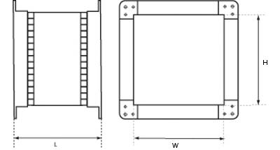prostokątne króćce elastyczne 2