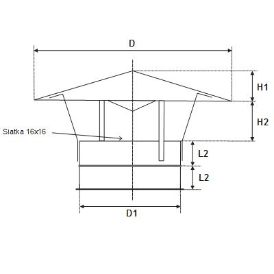 okrągłe wyrzutnie dachowe z blachy ocynkowanej