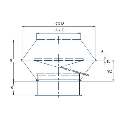 prostokątne wyrzutnie dachowe pionowe