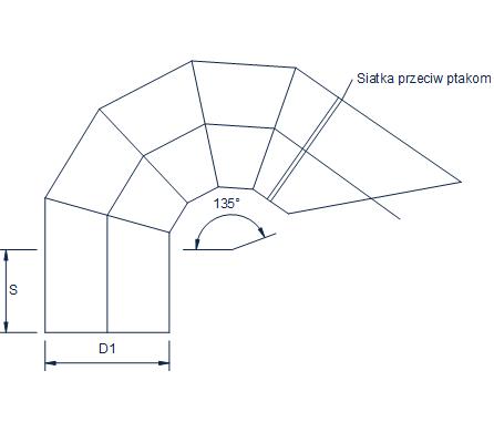 okrągłe wyrzutnie dachowe kolanowe