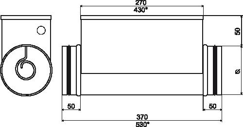kanałowe nagrzewnice elektryczne EKA NIS wymiary