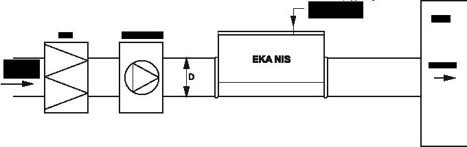 kanałowe nagrzewnice elektryczne EKA NIS schemat