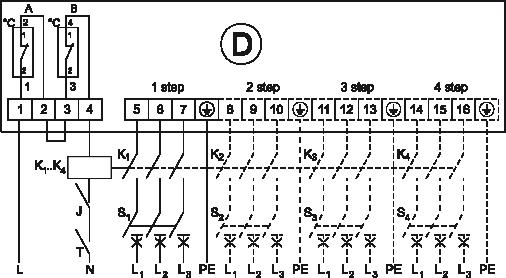 kanałowe nagrzewnice elektryczne EKS schemat