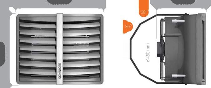 aparaty grzewczo-wentylacyjne nagrzewnice wodne HEATER wymiary